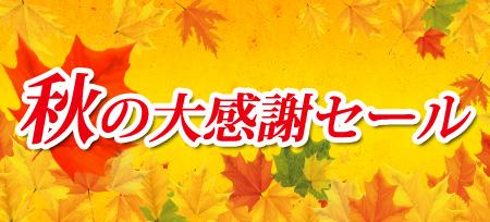 秋の大感謝セール第2弾
